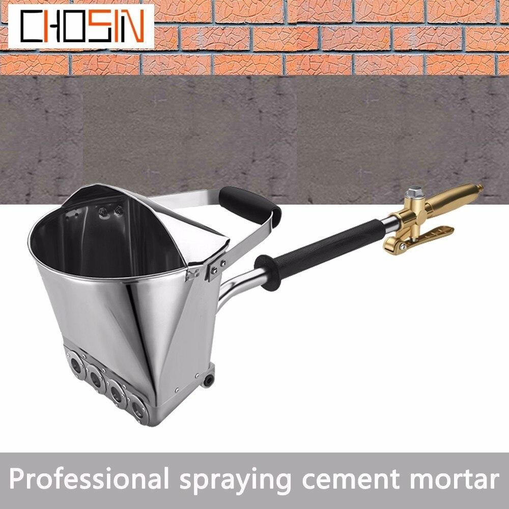 Free Shipping Cement Spray Gun Mortar Sprayer Plaster Hopper Gun Render Sprayer Hopper Bucket Gypsum Gun