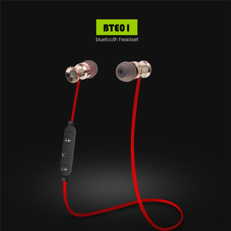 2017 New Wireless Headphones Magnetic Bluetooth Headset Stereo Supports Music and Calls 1 for 2 High Quality Bluetooth Headphone