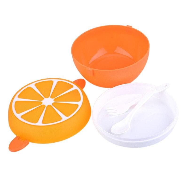 2 Strati Carino Limone Bento Box Contenitore Di Alimento Scatola Portatile Di Stoccaggio Di Frutta Picnic Stoviglie Di Plastica Lunchbox Per Bambini Di Età Acquista Sempre Bene