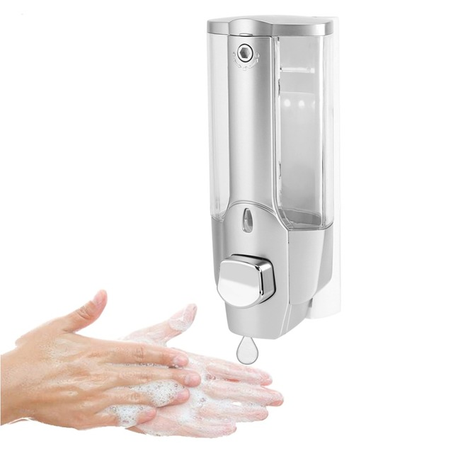 soap dispenser kitchen white cast iron sink 350ml bathroom liquid wall mounted manual operated shampoo holder hand dispensers accessories