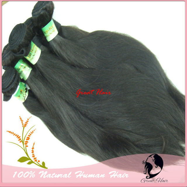 Remi Cabelo Humano Hair Natural Straight Natural Color 10pcs/lot No Tangle, No Shed, High Quality DHL Free Shipping Hair Ring
