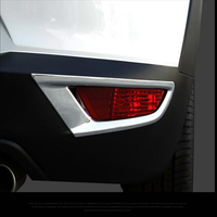 Free Shipping 2PC ABS Chrome Car Rear Fog Lamps Cover Trim Fog Lamp Light Shade Trim For Mazda CX 3 2018 Car Styling Accessories|Chromium Styling|   -