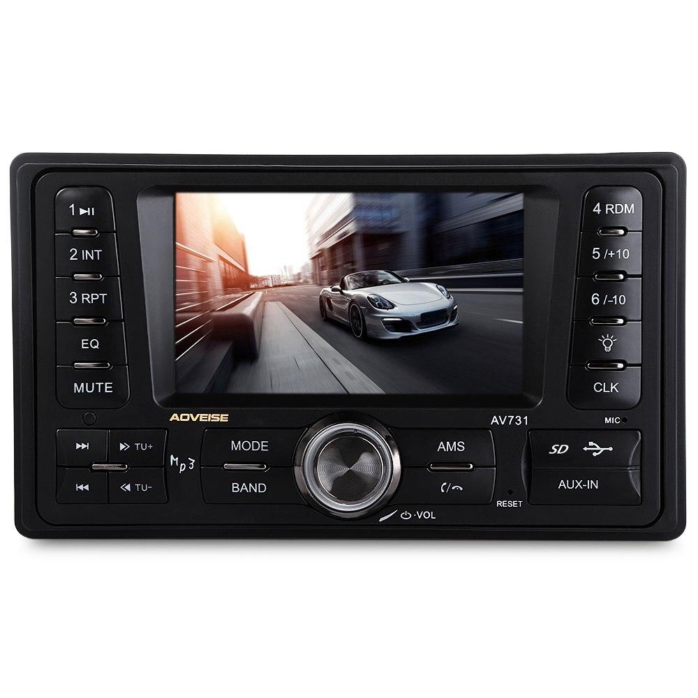 AV731 2 Din Car Radio MP5 Player Stereo Radio FM/MP3/MP4/Video Radio Recorder Rear View Camera Android Car Multimedia Player цена