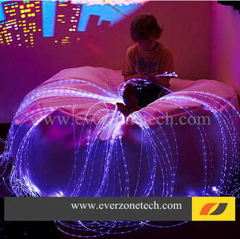RGB Colorful LED Fiber Optic Bundle 60pcs 3*0.75mm 4m Curtain Cable with IR remote controller FY-750*3-004 - SALE ITEM All Category