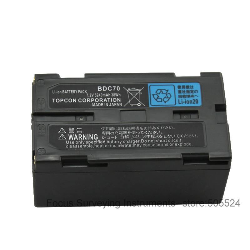 Подробнее о Details about SOKKIA / TOPCON BDC70 Li-ion battery 7.2V 5240mAh FOR Total Station / GPS new topcon bt l2 battery for topcon es os and sokkia total station gps
