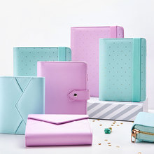 цена на Lovedoki A5 Leather Notebook Mint A6 Bullet Journal Spiral Planner Cute Zipper Case Book Diary Agenda Organizer Gift School