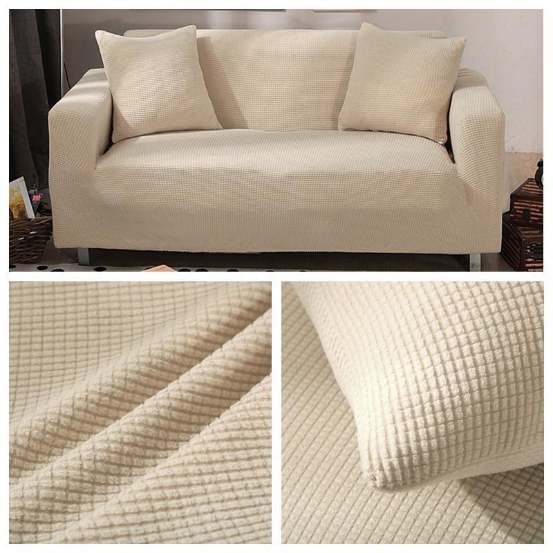 Lellen Polar Fleece Fabric Sofa Cover Stretch Anti Pets