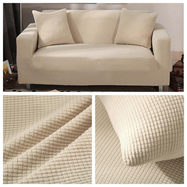 Lellen Polar Fleece Fabric Sofa Cover Stretch Anti Pets Dogs Sofa