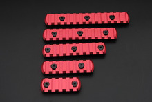 New Red 5,7,9,11,13 Slot Picatinny / Weaver Rail Sections per Key Mod Handguards Spedizione gratuita