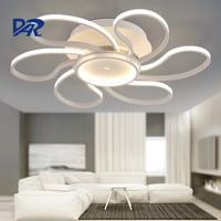 Post Modern Design 4 6 7 Heads Acrylic Rings Ceiling Lamp For Living Room Bedroom LED
