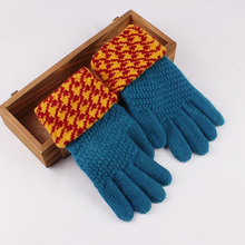 Women Winter Gloves Wool Knitted Smartphone Using Keep Warm Boots Full Finger Fashion