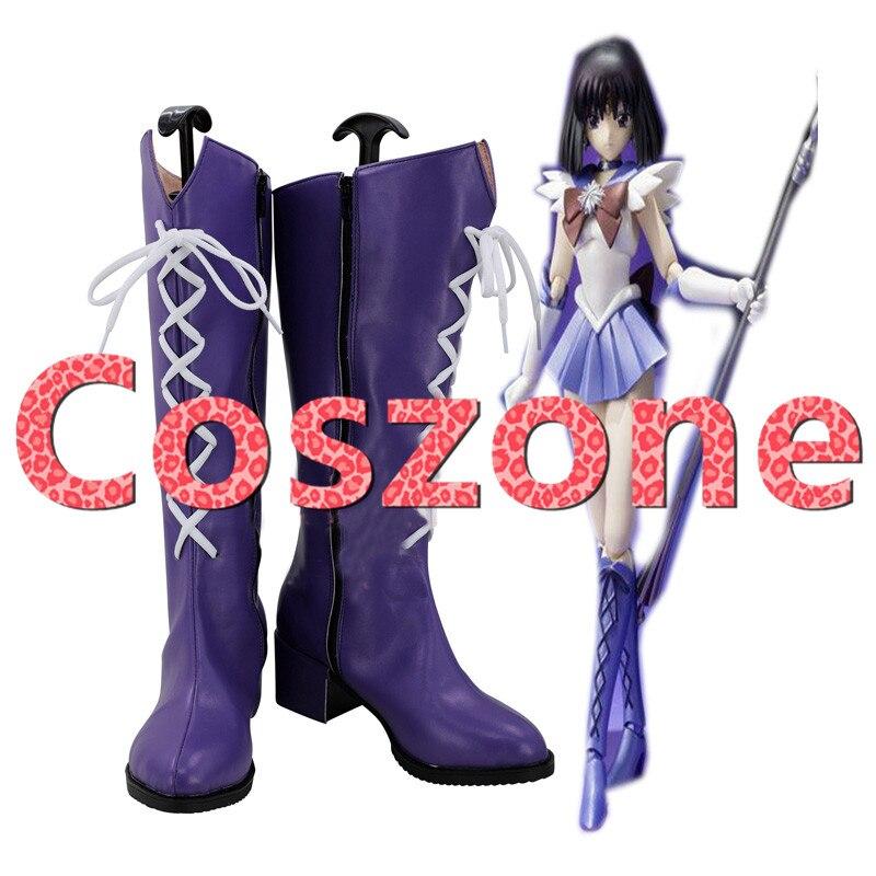 Sailor Moon Sailor Saturn Tomoe Hotaru Cosplay Shoes Boots Halloween Cosplay Costume Accessories