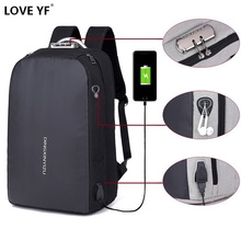 masculina Anti-theft password lock laptop mochila Teen boy g