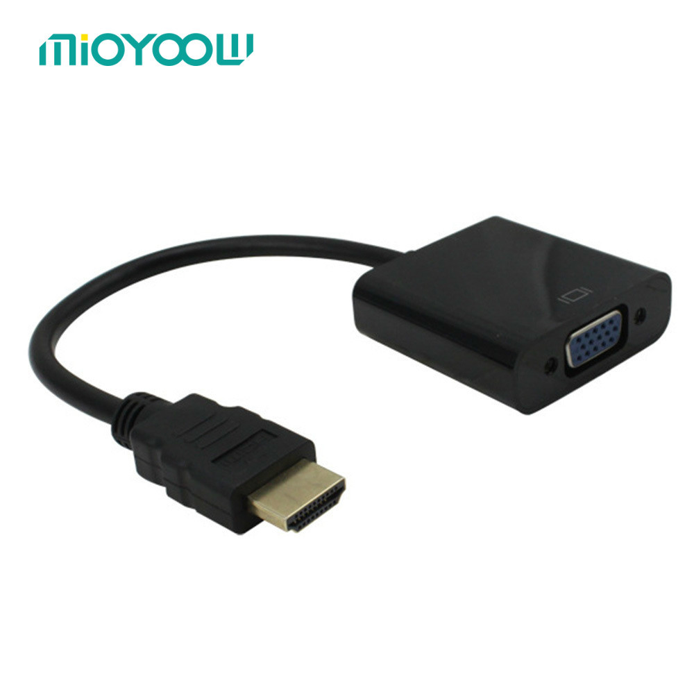 High Quality Displayport DP Male To VGA Female Adapter Display Port Cable Converter Black White down angled 90 degree displayport dp male to display port dp female extension adapter converter connector angle