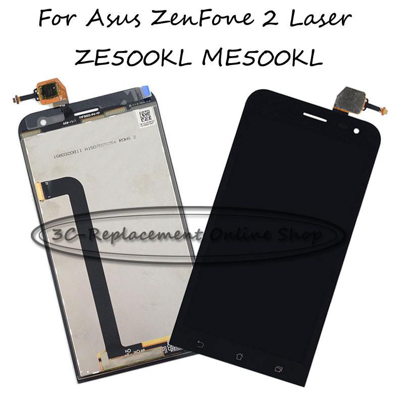 Prix pour Noir Pour Asus Zenfone 2 Laser ZE500KG Z00RD ZE500KL ME500KL Z00ED LCD Display + Écran Tactile Digitizer Assemblée Remplacement