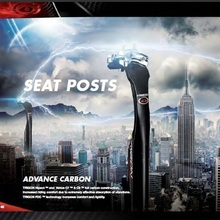 TRIGON tija de sillín de bicicleta de carretera SP160 UL, de fibra de carbono, flexible, absorción de vibraciones, 31,6mm