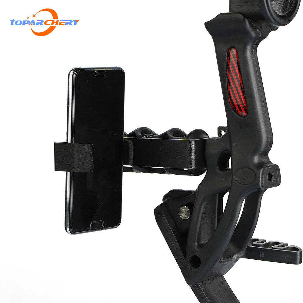 Toparchery Universal Smartphone Bow Mounts Camera Phone Holder For Compound And Recurve Bow Archery Hunting Shooting Record