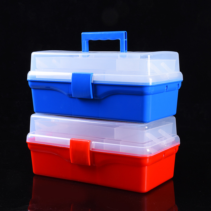 Portable Multifunction Tool Box Plastic Toolbox Fishing Gear Storage Box Multi-function Repair Tool Box