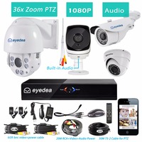 Eyedea 8 CH HDMI DVR Recorder 1080P 5500TVL Audio Built In 36x Zoom PTZ Control Night