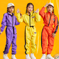 Jazz Costumes Kids Long Sleeve Short Coat Pants Girls Hip Hop Clothing Children Street Dancing Clothes Stage Outfit DNV11167