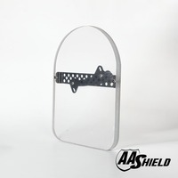 AA Shield Bulletproof Glass Shield Ballistic Body Armor Plate Face Shield Handheld Plate Level IIIA