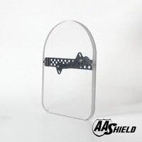 AA Shield Bulletproof Glass Shield Ballistic Body Armor Plate Face Shield Handheld Plate Level IIIA