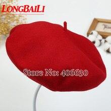 Зимний Регулируемый шерстяной берет шапки женские винтажная фетровая шляпа шапки женские KT041