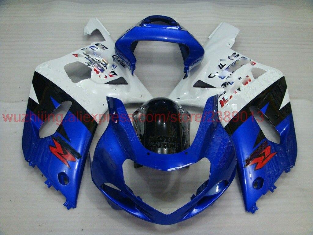 GSXR600 2000-2003 K1 K2 2000 обтекатель GSX R 600 750 1000 2002 синий кузов GSX-R1000 2002 обтекателя Наборы