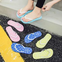 Women Flip Flops Beach Flat Slippers Summer Fashion Heart Print Female Lovely Sweet Shoes