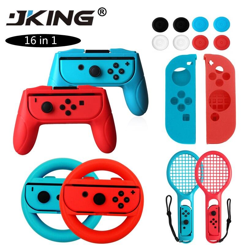 JKING 2 peças/set Apertos Controlador Interruptor Alegria Alegria-Con Case Para Nintend Con Handle NS N-Interruptor Jogo acessórios do console