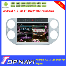 """10.1"""" Quad Core  Android 4.4 car dvd player for Tiguan with GPS Free Map Radio Bluetooth Capacitive Touch Screen"""