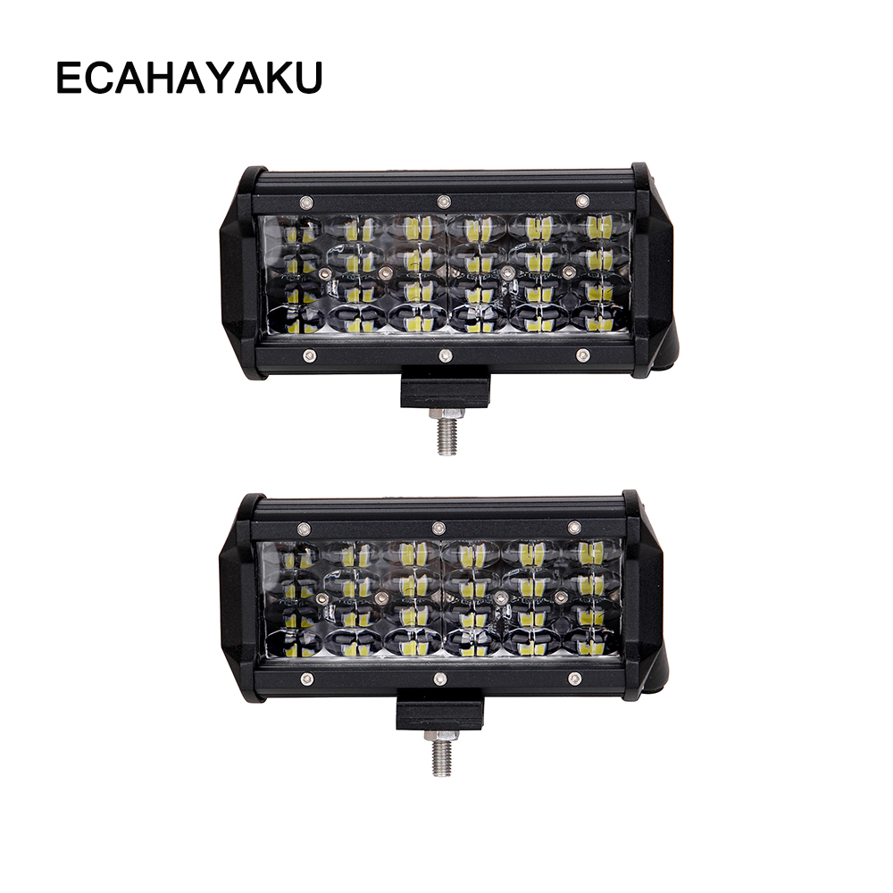 ECAHAYAKU 7 inch LED Bar Rated 72W Actual LED Work Bar Light for Tractor Boat OffRoad 4WD 4x4 Truck SUV ATV Driving 12V fog LAMP-in Light Bar/Work Light from Automobiles & Motorcycles    1