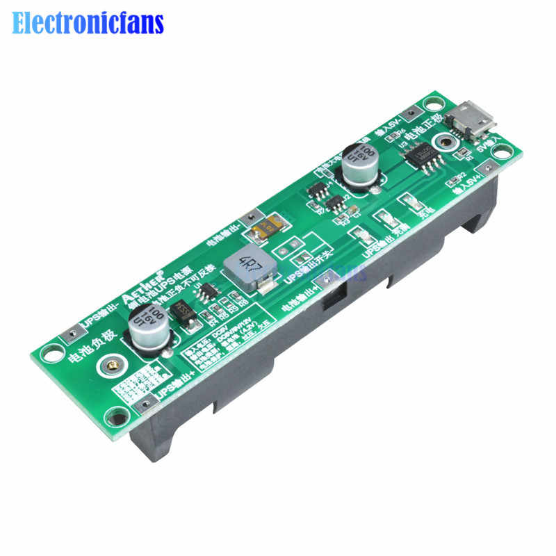 5V 18650 Lithium Battery Charger Protection Board Boost Step Up Module Charge Discharge the Same Time UPS Circuit Li-ion DIY Kit