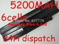6 células bateria do portátil para dell inspiron 13r 14r 15r 17r M411R M501 M5010 N3010 N3110 N4010 N4110 N5010 N5110 N7010 N5030 N7110