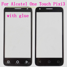 BK/WT Front TouchScreen Glass Outer Lens For Alcatel One Touch Pixi 3 4.5 4027D 4027X 5017 5017E VF795 Vodafone smart speed 6