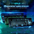 Original MantisTek 104 Teclas Wired Gaming Keyboard Led Retroiluminada Respiración Ajustable 3 Colores LED Gaming Keyboard Para PC