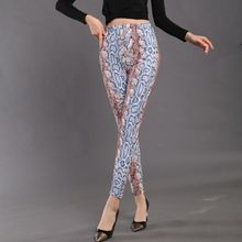 Sexy Legging Pants Active-Wear Snake Print Skinny Push-Up High-Waist CUHAKCI