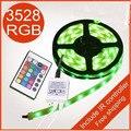5 М/Рулон, SMD 3528 300 светодиодов номера для водонепроницаемый RGB светодиодные ленты с ИК контроллер, белый/зеленый/желтый/красный светодиодные ленты бесплатная доставка