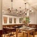 5,10, 15,21 cabeça decoração led modo lustre da sala de jantar sala de estar luzes globo de vidro luz ac90-265v dha free grátis