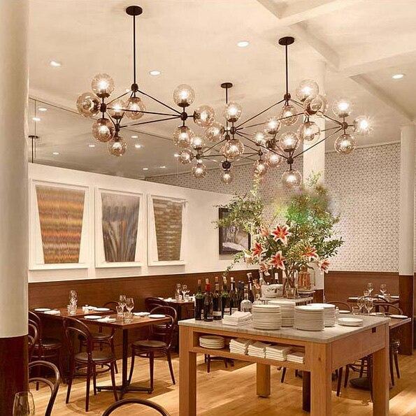 5,10,15,21 head dining room decoration LED modo Chandelier living room dha lights glass globe light AC90-265V free shipping