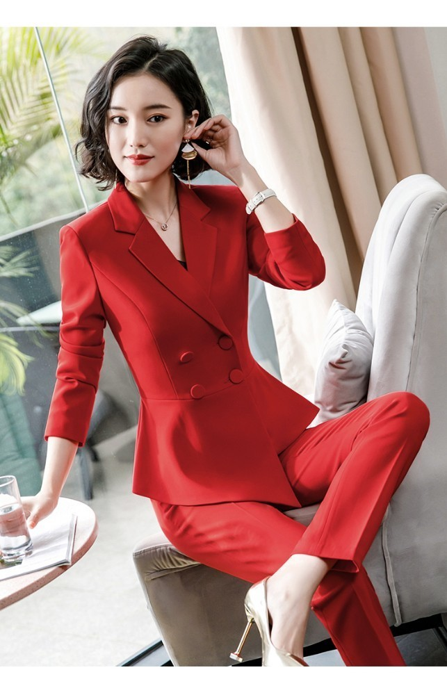 Formal Business Suits Women Office Work Wear Pantsuits Uniform Designs Pantsuits Ladies OL Styles Blazers Women Trousers Sets