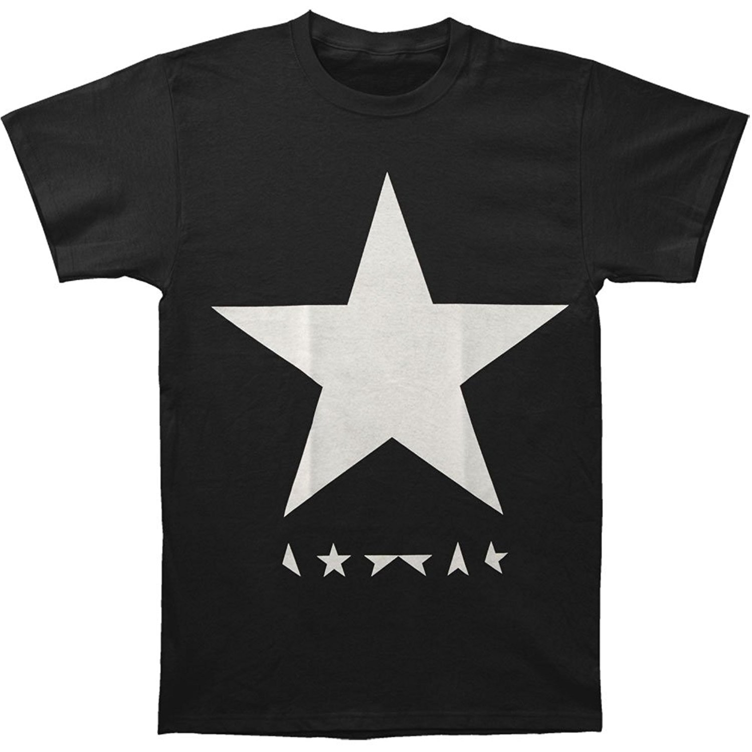 David Bowie Men's Black Star T-shirt Black Summer Short Sleeve T Shirts Tops S~3Xl Big Size Cotton Tees Free Shipping T-shirts