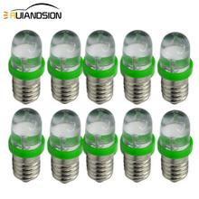 10Pcs E10 F5 1LED Miniature Screw LED Bulb Light Lamp Car Vehicle DIY Lighting 12V Green
