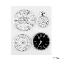 Different Clocks Transparent Clear Silicone Stamp/seal for DIY Scrapbooking/photo Album Decorative Clear Stamp Sheets.