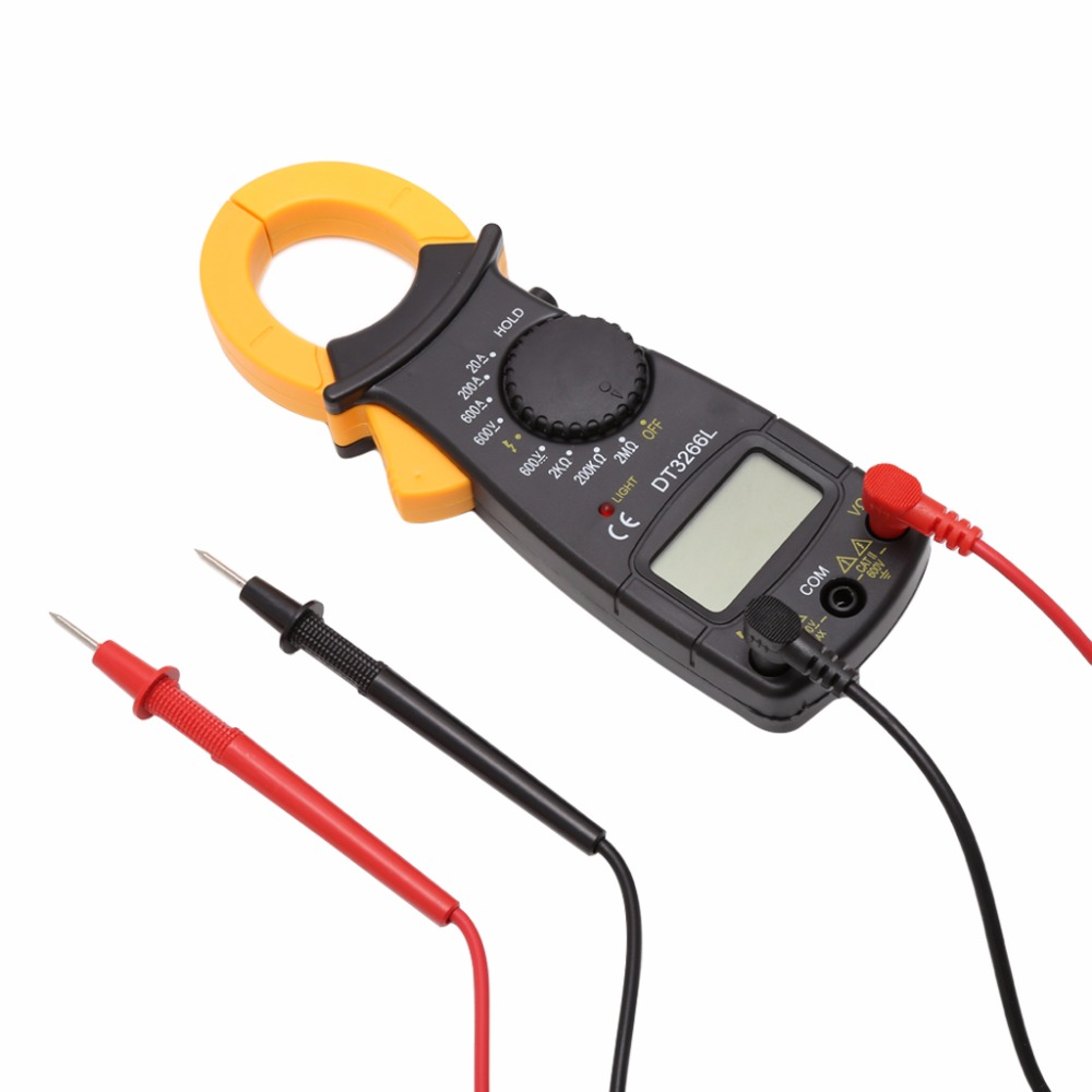 DT3266L Digital Clamp Meter Multimeter Voltage Current Resistance Tester clamp multimeter dt3266l lcd display digital multimeter handle ac voltage current resistance tester dt3266l multimeter tester