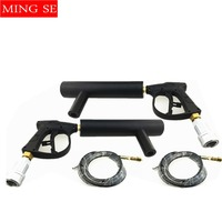 2sets Handhold Co2 Gun DJ Lights 3Meter Hose CO2 Jet Machine DMX Stage Effect Machine Shoot Distance 5 6Meter