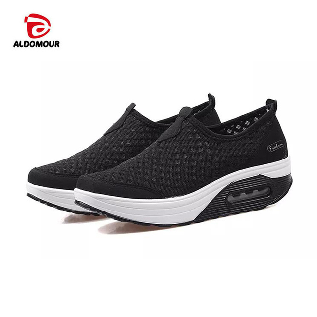 31c957d1b ALDOMOUR Toning Shoes Women s Sport for Women Swing Wedges platform zapatos  mujer canvas trainers tenis feminino Toning Shoes 63