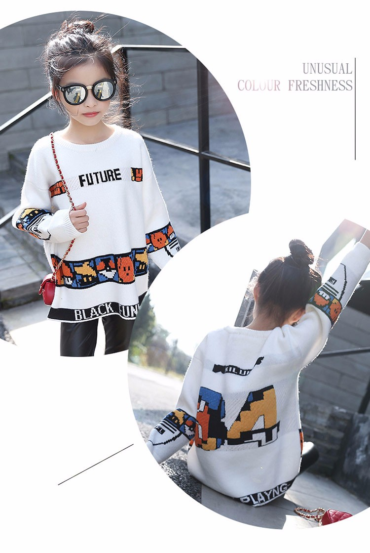 loose knitted sweater girls winter autumn spring 2017 new white character knitting teenage little girls sweaters and pullovers 6 7 8 9 10 11 12 13 14 15 16 years old little teenage big girl sweaters for kids (1)