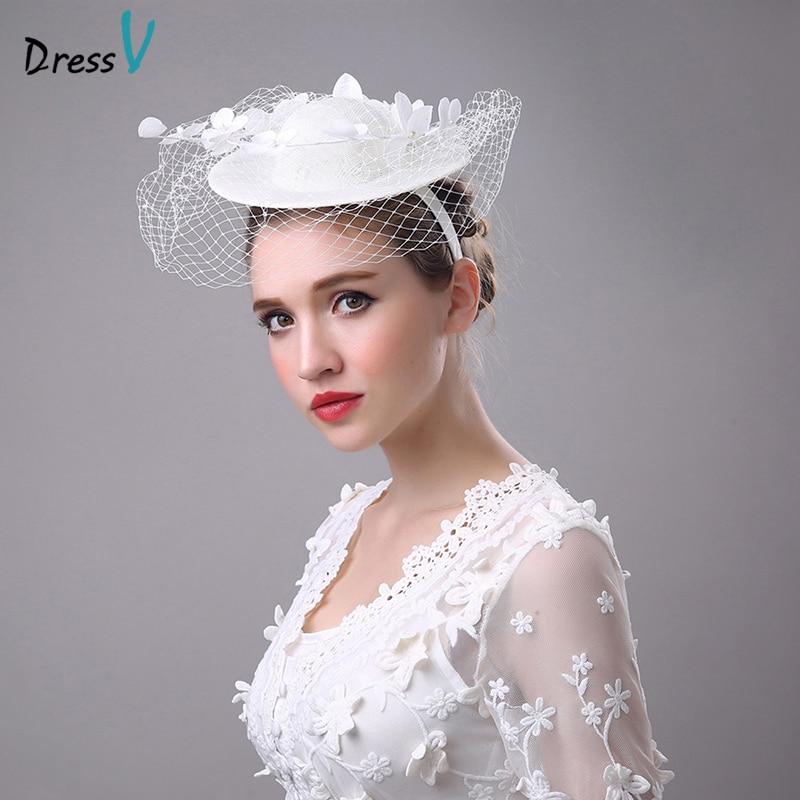 Dressv Wedding Bridle Hats Flower Tulle Wedding Bridle