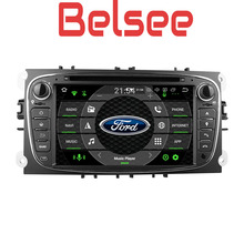 Belsee Android 8.0 2 din Car DVD Multimedia Player Head Unit Radio Octa Core Ram 4GB for Ford Mondeo Focus S-Max C-Max Galaxy